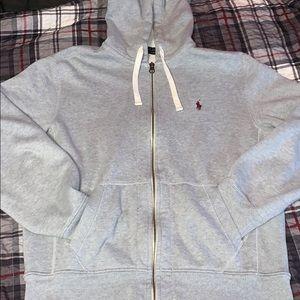 Polo Ralph Lauren Zip-Up Heavy Hoodie Grey